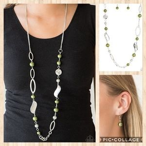All about me green necklace